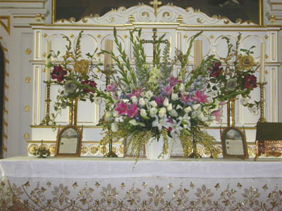 Weddings, baptisms, memorial services, flowers are appropriate in any context
