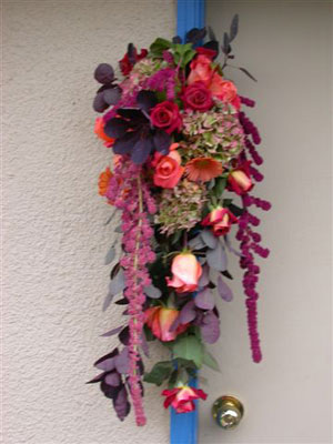 Wall hanging, a beautiful accent for a balustrade for the autumn wedding or Thanksgiving dinner.